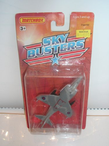 Matchbox Metal Sky Busters 1989 Harrier #5 Military Die Cast Aircraft