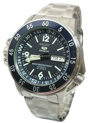 Package SKZ209 Seiko 5 Sports Automatic Atlas Diver White Hands Dark Navy Blue Dial Watch Gift Box Extra Rubber Band Strap Removal Tool Link Remover