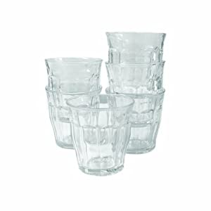 Duralex Picardie 7-3/4-Ounce Clear Tumbler, Set of 6