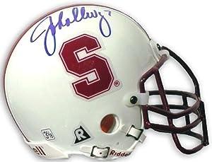 John Elway Stanford Cardinal Autographed Riddell Mini Helmet - Mounted Memories... by Sports+Memorabilia