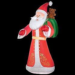9.5 Ft. Inflatable Plush Old World Style Santa