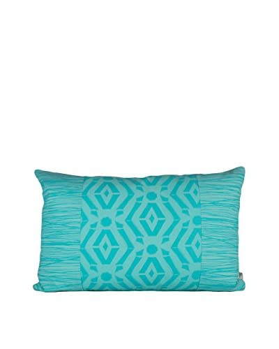 Jacque Pierro Oni Large Pillow, Light Turquoise/Dark Turquoise