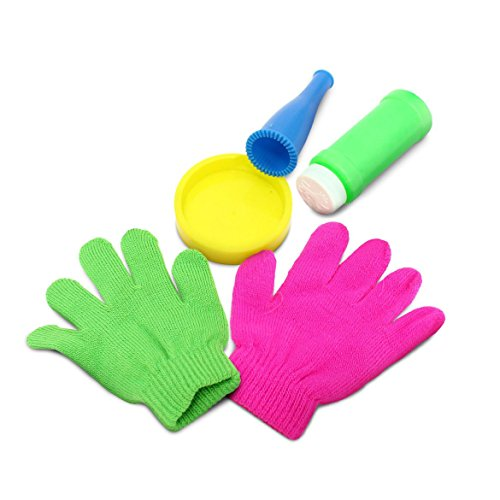 Perfect Life Ideas Bubble Maker Kit. Perfect Party Favor for Kids Makes Soap Bubbles - Bubble Games - Includes- Bubble Blower, Tray, Bubble Solution, and One Pair Gloves. 1 Kit (Bubble Blower For Parties compare prices)