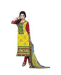 Krishna Collection Women's Cotton Unstitched Dress Material
