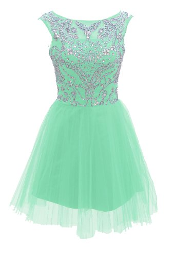 Dressystar Short Mint Prom Evening Plus Size Prom Dresses Size 20W front-88032