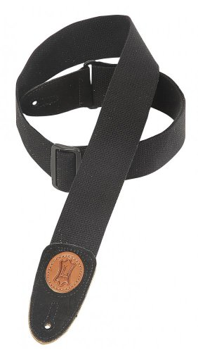 "Perri's 2"" Cotton Guitar Strap Black"