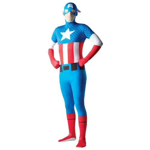 Adult Mens 2nd Skin Captain America Costume