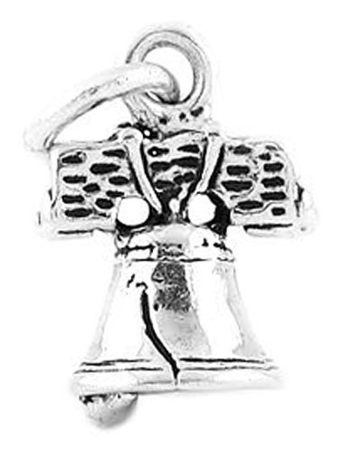 Sterling Silver Liberty Bell Charm