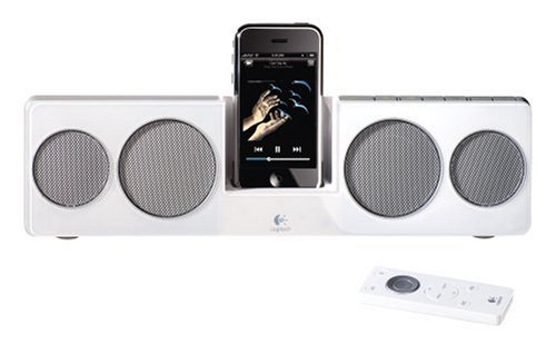 Logitech Pure-Fi Anywhere 2 Compact Docking Speakers For Ipod And Iphone (White)