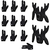 MagiDeal 10 Pieces Billiards Pool Snooker Cue Shooters Gloves Left Hand For Men Women + 2 Pieces Pool Cue Bridge Head