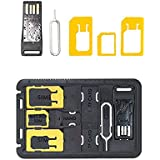 COOLNUT® SIM Card Adapters/Storage + Micro SD Storage + Micro SD Card Reader + Sim Release Pin In Credit Card...