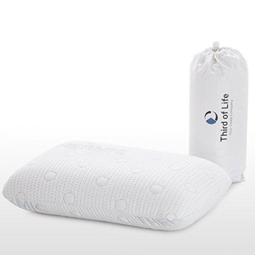 Cuscino da viaggio VOLAR | Cuscino cervicale ortopedico ergonomico | Memory visco-elastico | federa termoregolante | Guanciale / cuscino portatile per collo da viaggio o ufficio | 40 x 25 x 10 cm
