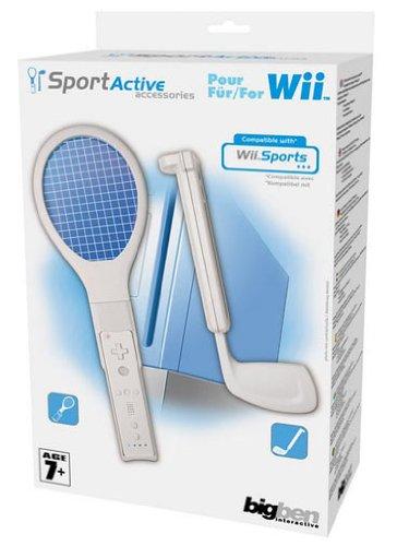 Nintendo Wii - Sports Pack 1 [Tennis-und Golfschläger-Aufsatz, Aufnahme für Wii-Fernbedienung] (BigBen)