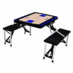 NBA Basketball Court Design Portable Folding Table Seats by Picnic Time