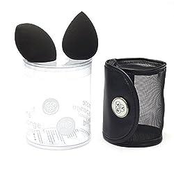 PAC Ultimate Beauty Blender Sponge (With Pouch) (2 Pcs) (Black)