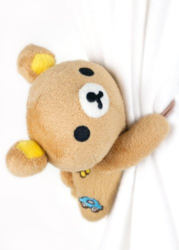 Xhan 2 Pcs Smile Decor Rilakkuma Bear Curtain Tieback Holdback Curtain Accessory, Decoration, Gift Idea front-740585