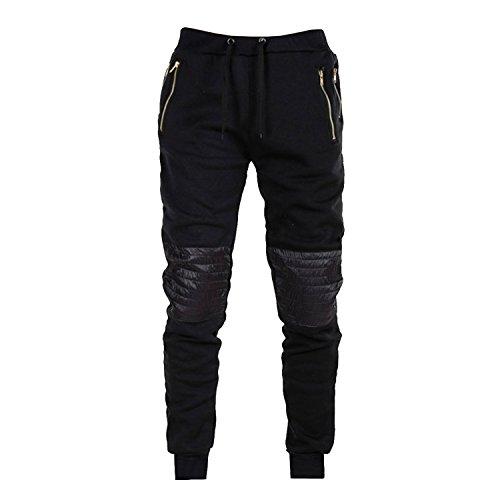 Thinkbest uomini ragazzi tempo libero Plus Size Sport Pantaloni da jogging conico sottile pantaloni sportivi Black XX-Large