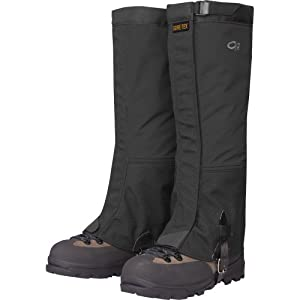 Outdoor Research Men's Crocodile Gaiters, Black, Large