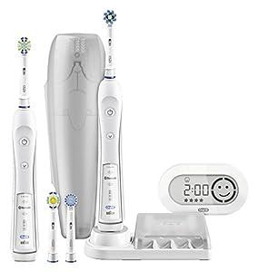 Oral-B PRO 6500 - Cepillo de dientes eléctrico de rotación (potencia 2000 W), color blanco