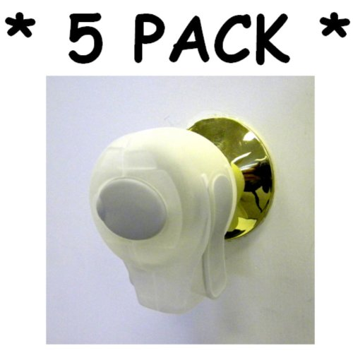 KidCo Door Knob Lock ** 5 PACK ** (CLEAR)