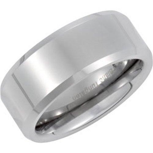 Tungsten Carbide, Diamond Cut and Beveled Wedding Band (sz 10)