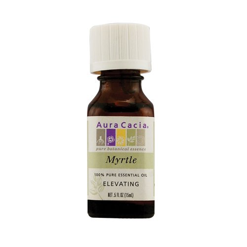 Aura Cacia Pure Essential Oil, Myrtle, 0.5 Fluid Ounce