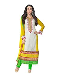 TEXCLUSIVE DESIGNER STRAIGHT FIT SEMI-STITCHED DRESS MATERIAL