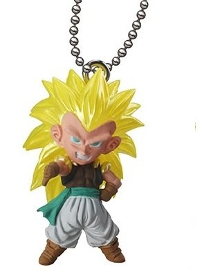 Dragon Ball Z & GT ~UDM The Best 07~Ultimate Deformed Mascot~Figure Swing Keychain~S.s 3 Gotenks~40mm - 1