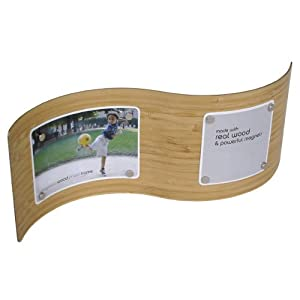 "Bamboo S Wave Woodnetic Photo Frame 4""x12"""