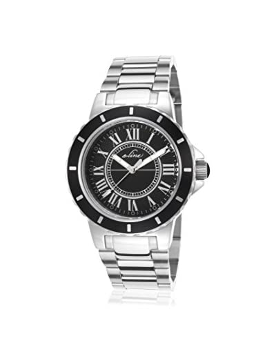a_line Women's AL-20013-11 Marina Silver/Black Stainless Steel Watch