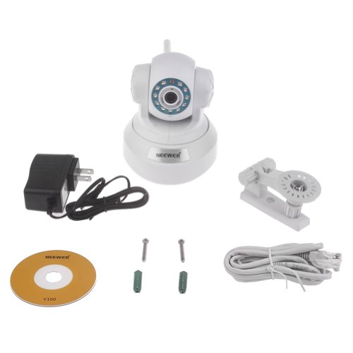 Neewer® Plug & Play Pan & Tilt Ip/Network Internet Camera Surveillance Camera W/ Two-Way Audio, Night Vision, Built-In Microphone With Cell Phone Remote Monitoring, Automatic Camera Triggering, Email Alert Snapshot, Video Recording, Baby / Pets Monitor Fo front-855083