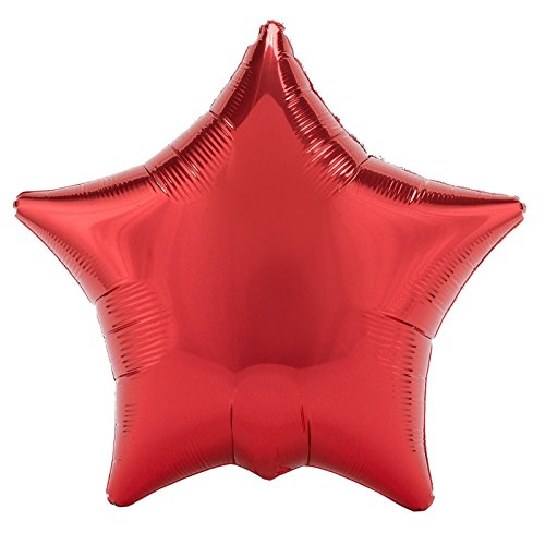 "Red Metallic Star 18"" Foil Balloon"