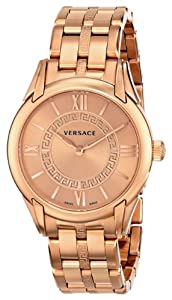 """Versace Women's VFF040013 """"Dafne"""" Rose Gold Ion-Plated Stainless Steel Dress Watch"""