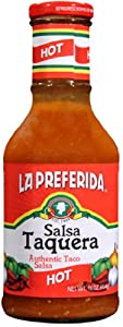 La Preferida Salsa Taquera Hot 16-ounce Pack Of 12 by Geneva Supply - Grocery