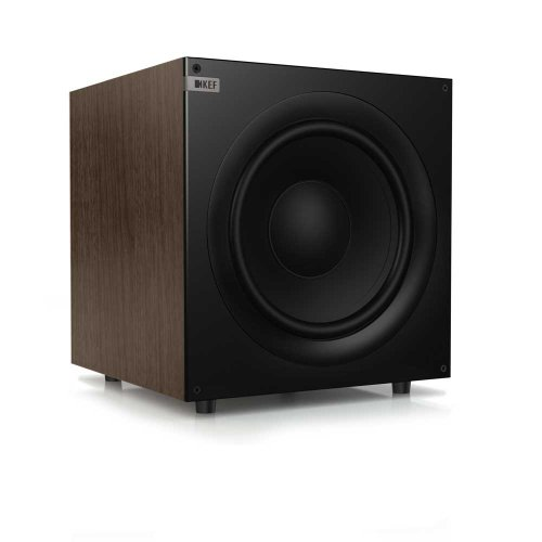 Kef Q400W Front Firing Powerful Subwoofer - European Walnut (Single)