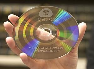 M-DISC 4.7GB DVD+R Permanent Data Archival / Backup Blank Disc Media - 10-Pack Cake Box