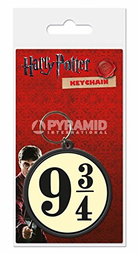 Harry Potter Rubber Portachiavi Keychain 9 3/4 6 cm Pyramid International