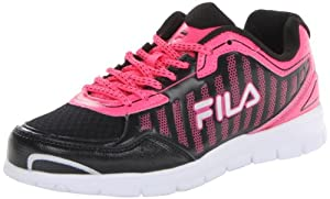 Fila Women's Winsprinter Running Shoe,Black/Neon Pink/White,9.5 M US
