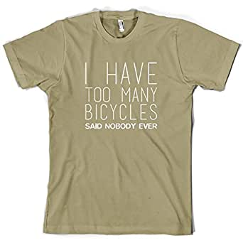 I Have Too Many Bicycles Said Nobody Ever - Mens T-Shirt-Khaki-Small