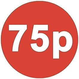 Audioprint Ltd. Paquet de 100 de 552 Prix Stickers 30mm Red