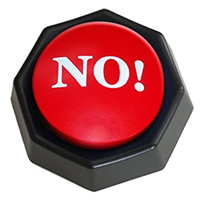 The NO! Button-Electronic Voice Toy Gag Gift-10 Different Versions of No by Zany Toys LLC