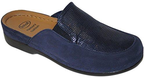 drscholl-olara-ciabatta-memory-camoscio-e-pelle-stampata-38-eu-blu