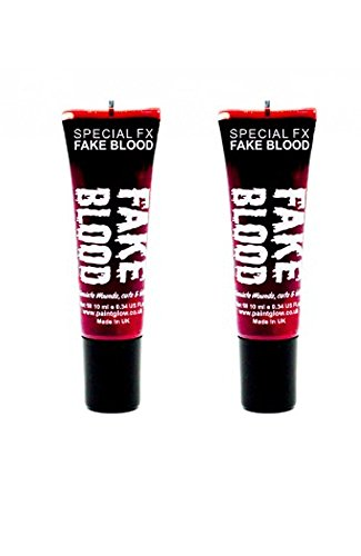 2 x Paintglow Fake Blood Halloween Fancy Dress Horror Costume Make Up Vampire by PaintGlow