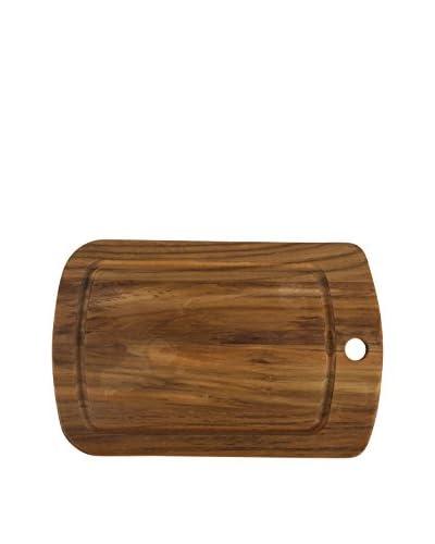 Core Bamboo Teak Wood Medium Curve Cutting Board