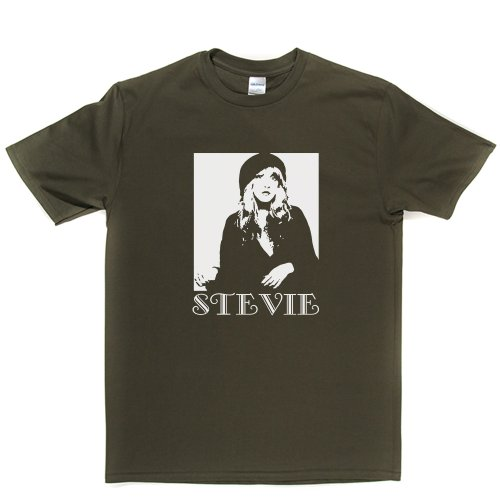 stevie-nicks-t-shirt-militarygreen-white-xxlarge