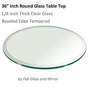 Glass Table Top 36 Inch Round 1 4 Inch Thick Beveled Tempered K