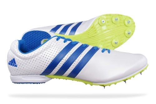 Adidas Adizero MD Mens Running Spikes / Shoes - White