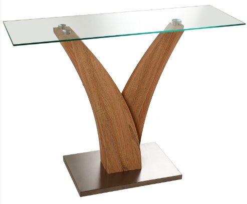 suskaregalos–Tavolo ingresso metallo, vetro/madera-119X 39,5x 89cm