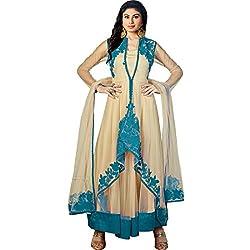 Vasu Saree Mouni Roy Dashing Beige Resham Work Designer Suit