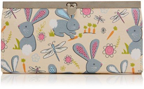 Tiny Love - Romeo Rabbit Print Metal Clasp Wallet, Portafoglio da donna, beige (beige), One size